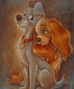 Lady And The Tramp Animation Paint by numbers