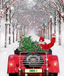 Santa Red Truck paint by numbers