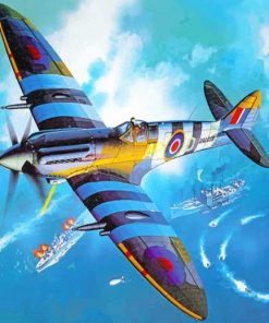 Spitfire Airplane Paint by numbers