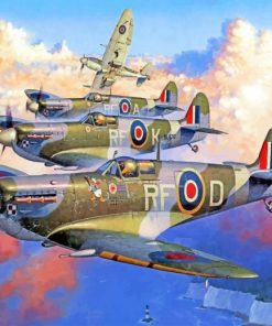 Spitfires Paint by numbers