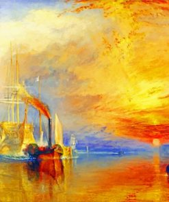 The Fighting Temeraire Paint by numbers