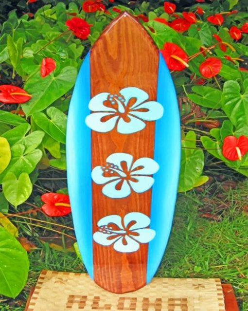 Aesthetic Surfboard Paint By Number Numpaint Paint By Numbers