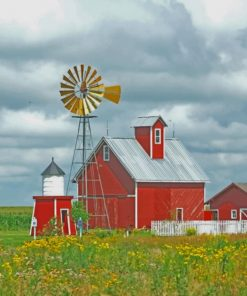 Red Barn paint by numbers