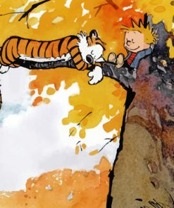 Calvin And Hobbes Adventure paint by numbbers