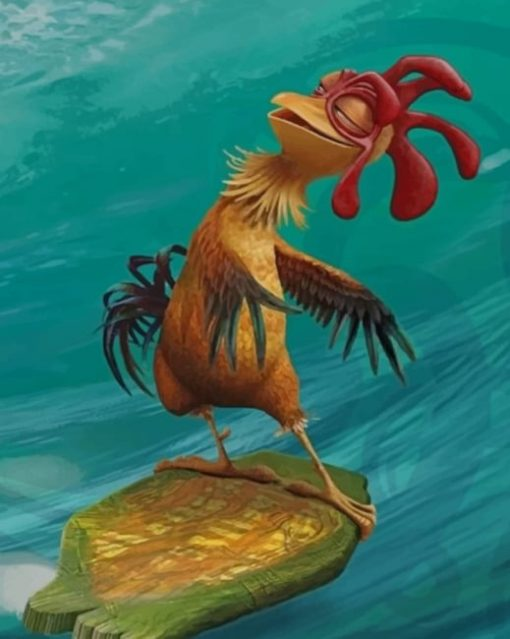 Chicken Surfing Paint by numbers