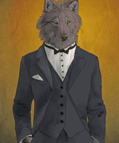Classy Wolf paint by numbers