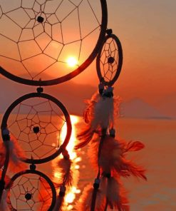 Sunset Dream Catcher paint by numbers