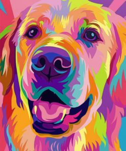 Golden Retriever Paint by numbers