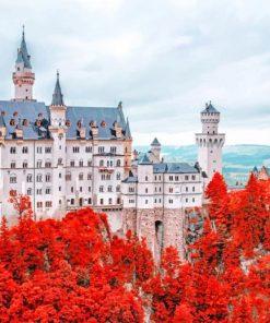 Neuschwanstein Castle Schwangau paint by numbers