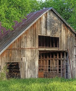 The Old Barn In Denton Texas Paint by numbers