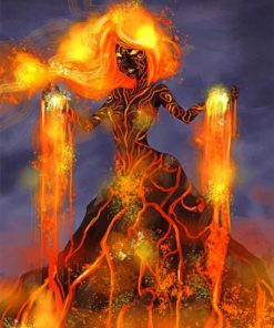 Volcano Woman Paint by numbers