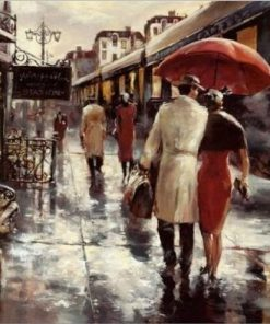 Couples In Metropolitan Station Paint by numbers