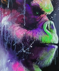 Colored Gorilla paint by numbers