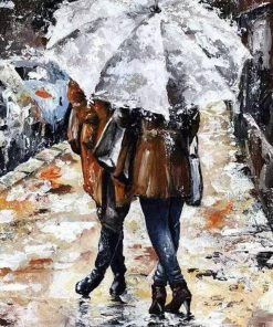Couples Umbrella Piant by numbers