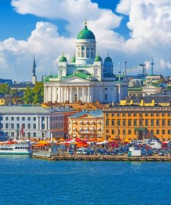 Helsinki Finland Paint by numbers