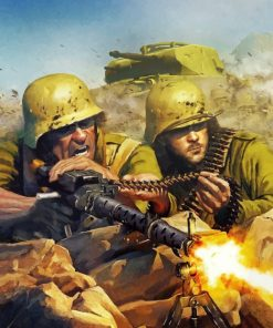 Military Soldiers In War Piant by numbers