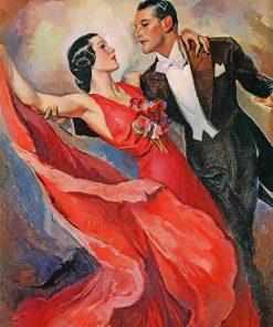 Vintage Dancers Art paint by numbers
