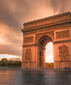 Aesthetic Arc de Triomphe paint by numbers