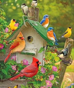 Aesthetic Birds paint by numbers
