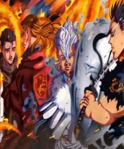 Black Clover paint by numbers