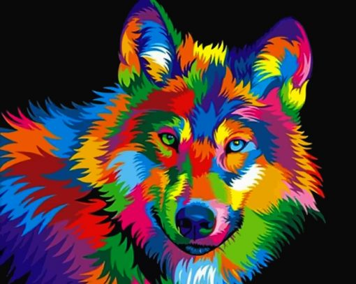 colorful-wolf-paint-by-number