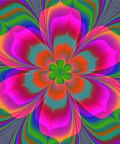 Colorful Mandala Flower Paint by numbers