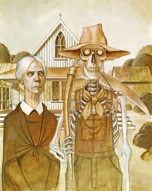 Discworld American Gotthic paint by numbers