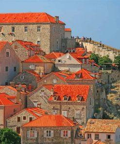 Dubrovnik Buildings Paint by numbers