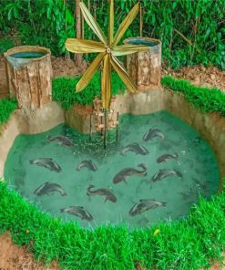 Aesthetic Fishpond Paint by numbers