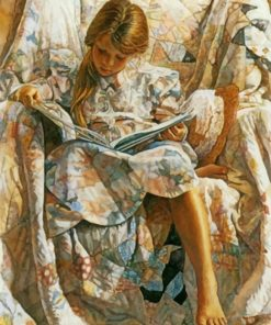 Girl Reading By Steve Hanks piant by numbers