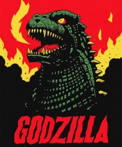 Godzilla Illustration Paint by numbers