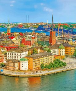 Helsinki Buildings paint by numbers