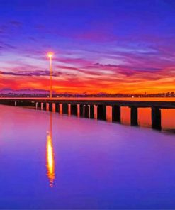 Sunset Perth paint by numbers