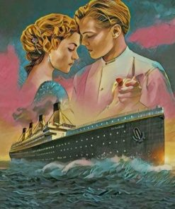 Titanic Jack And Rose Paint by numbers