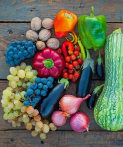 Vegetables And Fruits paint by numbers