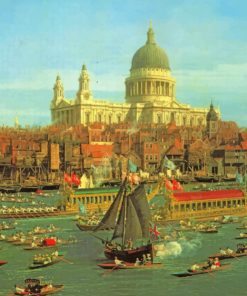 Canaletto-The-Thames-from-Somerset-House-paint-by-number