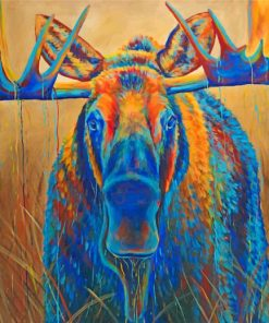 Colorful-Moose-Animal-paint-by-numbers