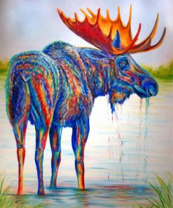 Colorful-Moose-Art-paint-by-number