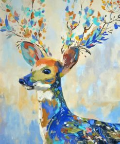 abstract-deer-paint-by-number