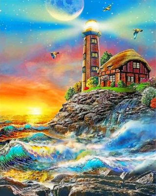 aesthetic-lighthouse-paint-by-numbers