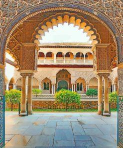 alcázar-of-seville-paint-by-number