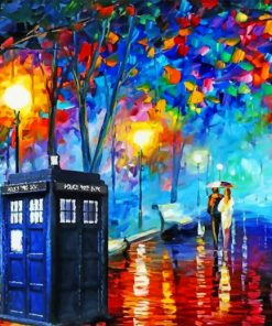 colorful-view-with-tardis-paint-by-number