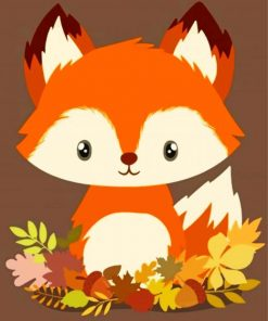 cute-baby-fox-paint-by-number