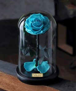 cyan-glass-rose-paint-by-number