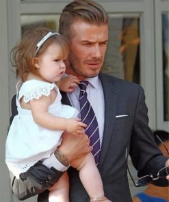 david-beckham-and-his-daughetr-paint-by-number