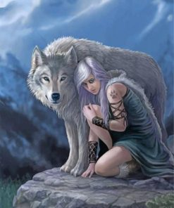girl-and-grey-wolf-paint-by-number