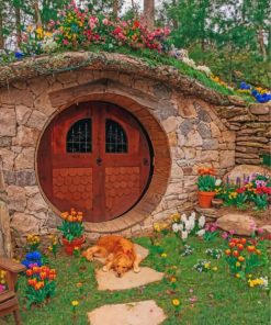 hobbit-hole-and-flower-paint-by-number