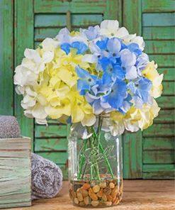 hydrangeas-in-Jar-paint-by-numbers