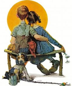 little-couple-norman-rockwell-paint-by-number