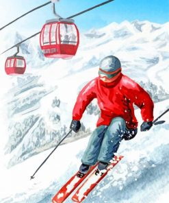 man-skiing-paint-by-number